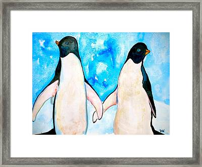 Dressed For Dinner Framed Print by Debi Starr