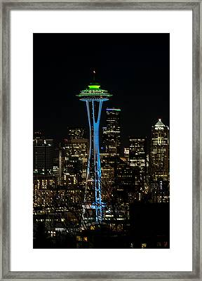 Dressed For The Super Bowl Framed Print