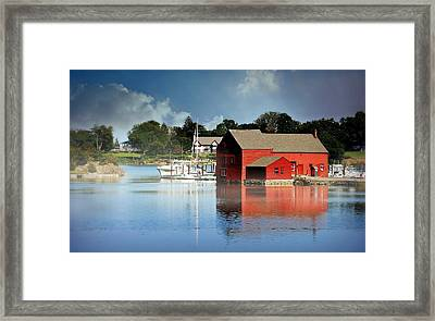 Dressed In Red Circa 1770 Framed Print by Diana Angstadt