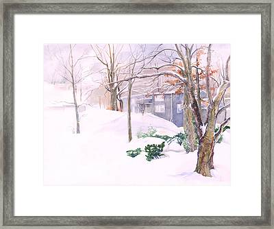 Dressed In Winter White Framed Print by Nancy Watson