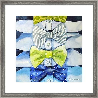 Dressed To Impress Framed Print by Roleen  Senic