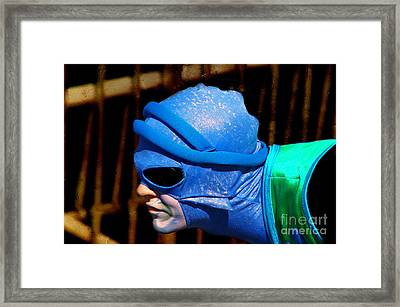 Dressed Up For The Show Framed Print by Mariola Bitner