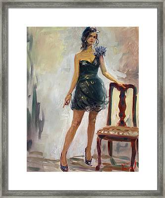 Dressed Up Girl Framed Print by Ylli Haruni