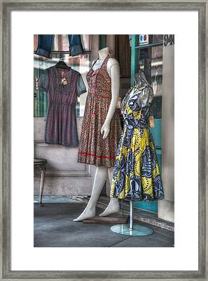 Dresses For Sale Framed Print by Brenda Bryant