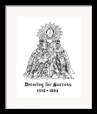 Ball Gown Drawings Framed Prints