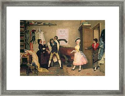 Dressing For The Masquerade Framed Print by Eugen von Blaas