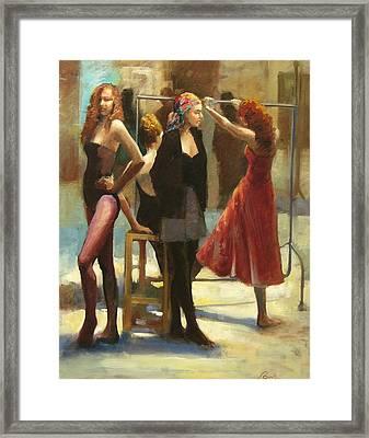 Dressing Room Framed Print by Podi Lawrence