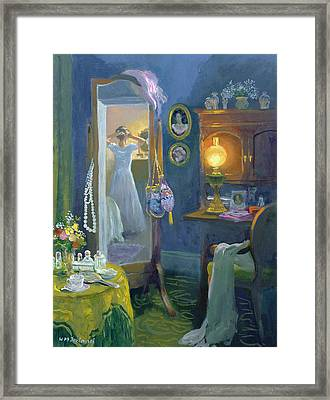 Dressing Room Victorian Style Oil On Board Framed Print by William Ireland