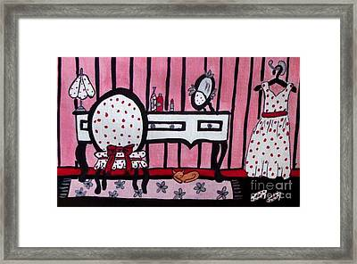 Dressing Vanity Table And Room Framed Print by Gail Matthews