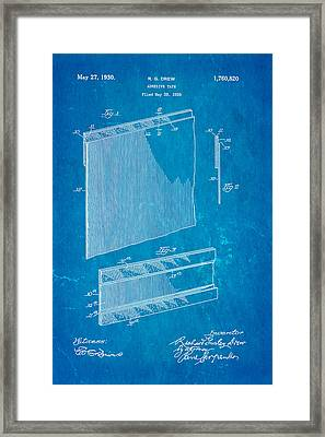 Drew Adhesive Tape Patent Art 1930 Blueprint Framed Print by Ian Monk