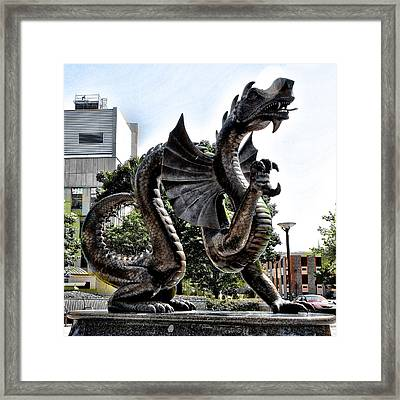 Drexel University Dragon Framed Print
