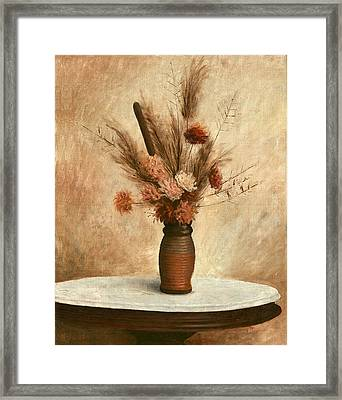 Dried Flower Arrangement Framed Print