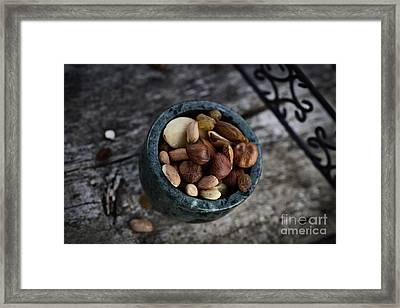 Dried Fruit And Nuts Framed Print by Mythja  Photography