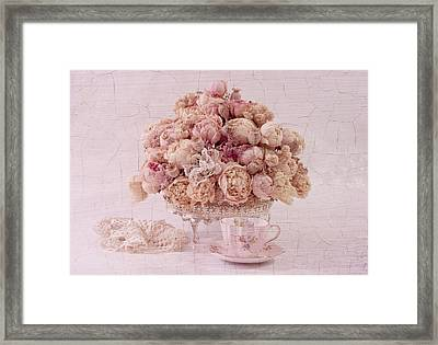 Framed Print featuring the photograph Dried Peony Still Life by Sandra Foster