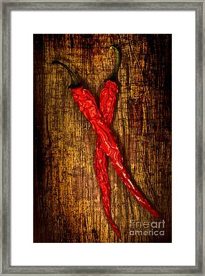 Dried Pepperoni Framed Print by Shawn Hempel
