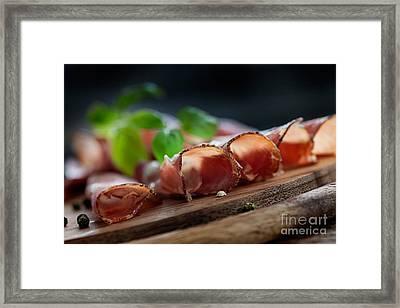 Dried Pork Collar Salami Framed Print