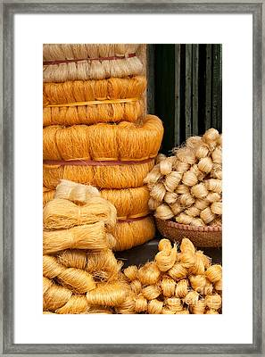 Dried Rice Noodles 01 Framed Print by Rick Piper Photography