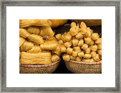 Dried Rice Noodles 02 Framed Print by Rick Piper Photography