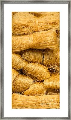 Dried Rice Noodles 03 Framed Print by Rick Piper Photography