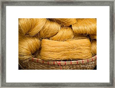 Dried Rice Noodles 04 Framed Print by Rick Piper Photography