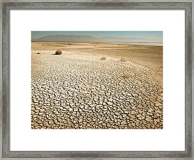 Dried Up Lake Framed Print