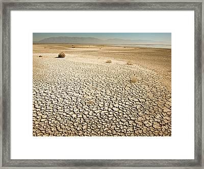 Dried Up Lake Framed Print