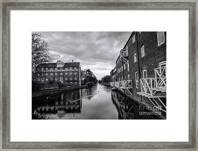 Driffield Refurbished Canal Basin Framed Print