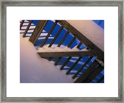 Framed Print featuring the photograph Drifted Gate by Dennis Lundell