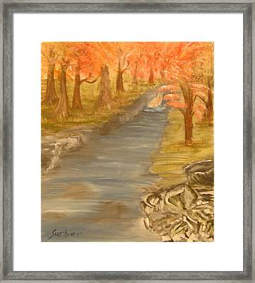 Drifting Away Framed Print by Suzanne Surber