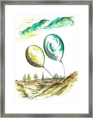 Drifting Balloons Framed Print by Teresa White