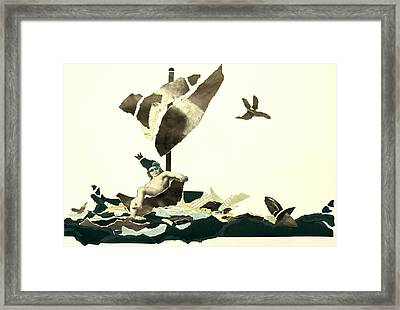 Drifting But Not Scared Framed Print