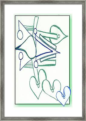 Drifting Hearts Framed Print by Becky Sterling