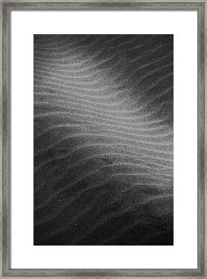 Ocean Framed Print featuring the photograph Drifting Sand by Aaron Berg