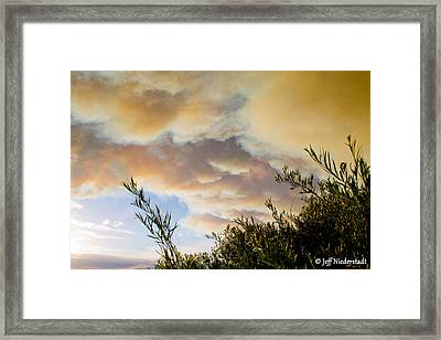 Drifting Smoke Framed Print