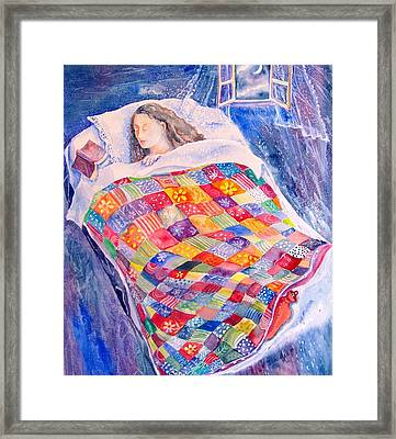 Drifting To Dreamland Framed Print by Trudi Doyle
