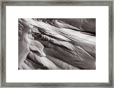 Drifts Abstract Framed Print by Robert Clifford