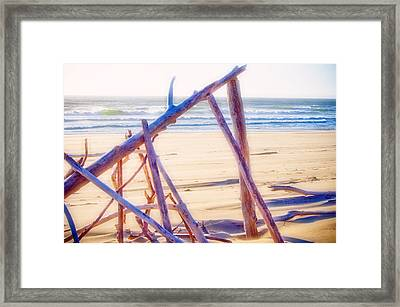 Framed Print featuring the photograph Driftwood 2 by Adria Trail