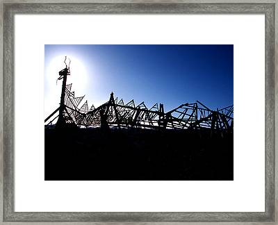 Driftwood Dragon Framed Print