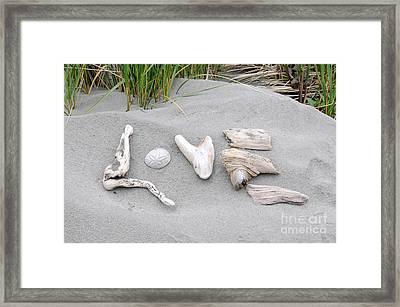 Driftwood Love Framed Print