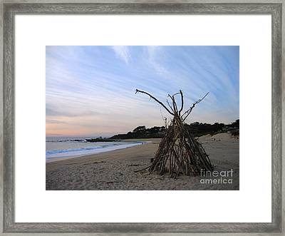 Driftwood Tipi Framed Print by James B Toy