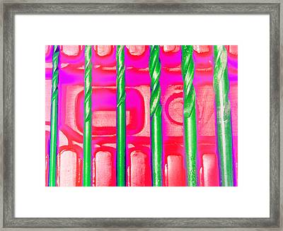 Drill Bits G Framed Print by Laurie Tsemak