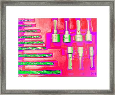Drill Bits H Framed Print by Laurie Tsemak