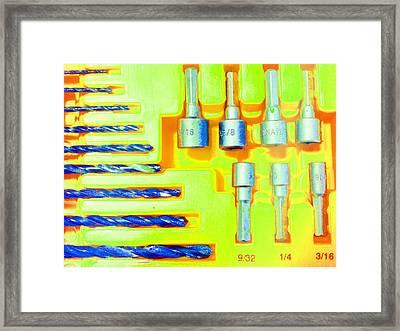 Drill Bits J Framed Print by Laurie Tsemak
