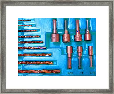 Drill Bits K Framed Print by Laurie Tsemak