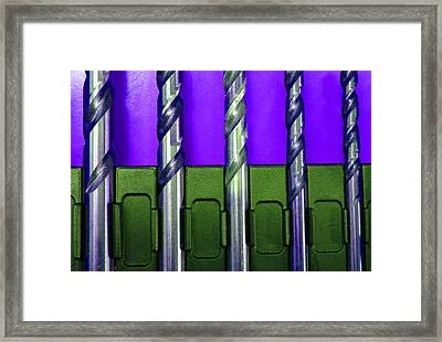 Drill Bits M Framed Print by Laurie Tsemak
