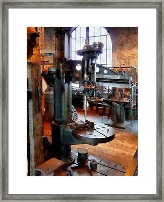Drill Press Near Window Framed Print