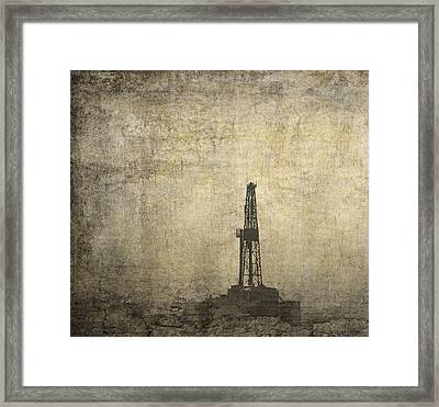 Drill Rig In The Distance Framed Print by Daniel Hagerman