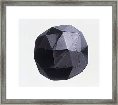Drilled And Faceted Jet Bead Framed Print by Dorling Kindersley/uig