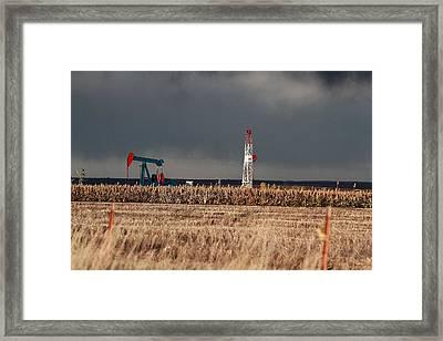 Drillin And Pumpin Framed Print