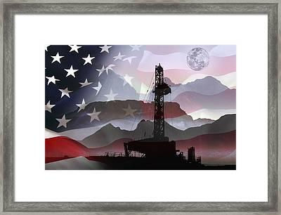 Drilling For America Framed Print by Daniel Hagerman